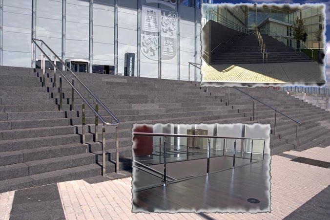 Inoxpuerta barandillas y cerramientos for Escalera exterior de acero galvanizado precio