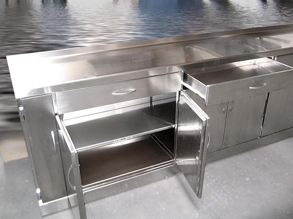 Inoxpuerta otros trabajos - Muebles de cocina de acero inoxidable ...